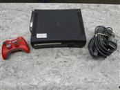 MICROSOFT XBOX 360 ELITE 120GB (BLACK) WITH RED OFFBRAND CONTROLLER AND HOOKUPS